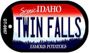 Twin Falls Idaho Wholesale Novelty Metal Dog Tag Necklace DT-9867