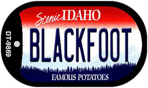 Blackfoot Idaho Wholesale Novelty Metal Dog Tag Necklace DT-9869