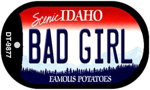 Bad Girl Idaho Wholesale Novelty Metal Dog Tag Necklace DT-9877
