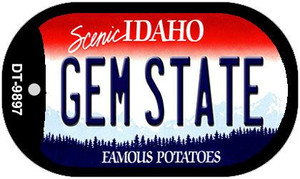 Gem State Idaho Wholesale Novelty Metal Dog Tag Necklace DT-9897