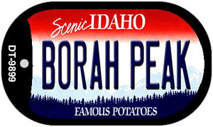 Borah Peak Idaho Wholesale Novelty Metal Dog Tag Necklace DT-9899