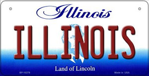 Illinois Wholesale Novelty Metal Bicycle Plate BP-10279