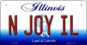 N Joy IL Illinois Wholesale Novelty Metal Bicycle Plate BP-10281