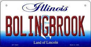 Bolingbrook Illinois Wholesale Novelty Metal Bicycle Plate BP-10287