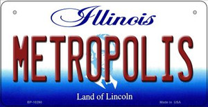 Metropolis Illinois Wholesale Novelty Metal Bicycle Plate BP-10290