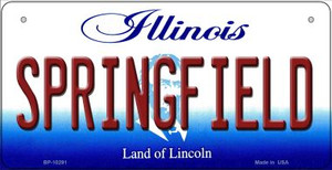 Springfield Illinois Wholesale Novelty Metal Bicycle Plate BP-10291