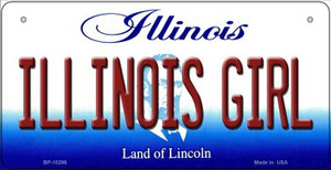 Illinois Girl Wholesale Novelty Metal Bicycle Plate BP-10296