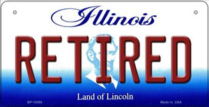 Retired Illinois Wholesale Novelty Metal Bicycle Plate BP-10300