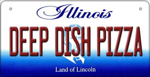 Deep Dish Pizza Illinois Wholesale Novelty Metal Bicycle Plate BP-10315