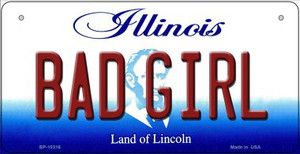 Bad Girl Illinois Wholesale Novelty Metal Bicycle Plate BP-10316