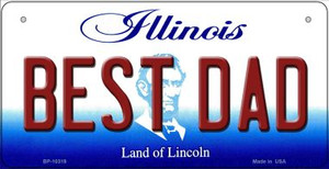 Best Dad Illinois Wholesale Novelty Metal Bicycle Plate BP-10319