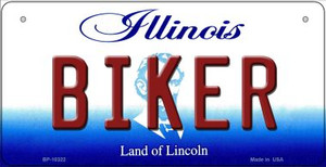 Biker Illinois Wholesale Novelty Metal Bicycle Plate BP-10322