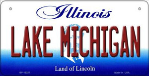 Lake Michigan Illinois Wholesale Novelty Metal Bicycle Plate BP-10327
