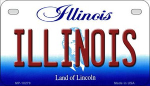 Illinois Wholesale Novelty Metal Motorcycle Plate MP-10279