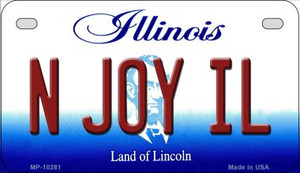 N Joy IL Illinois Wholesale Novelty Metal Motorcycle Plate MP-10281