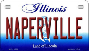 Naperville Illinois Wholesale Novelty Metal Motorcycle Plate MP-10286