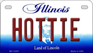 Hottie Illinois Wholesale Novelty Metal Motorcycle Plate MP-10297