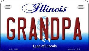 Grandpa Illinois Wholesale Novelty Metal Motorcycle Plate MP-10299