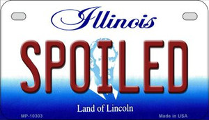 Spoiled Illinois Wholesale Novelty Metal Motorcycle Plate MP-10303
