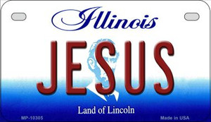 Jesus Illinois Wholesale Novelty Metal Motorcycle Plate MP-10305