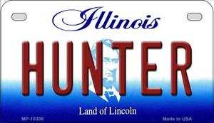 Hunter Illinois Wholesale Novelty Metal Motorcycle Plate MP-10306