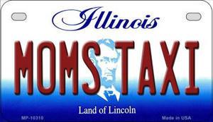 Moms Taxi Illinois Wholesale Novelty Metal Motorcycle Plate MP-10310