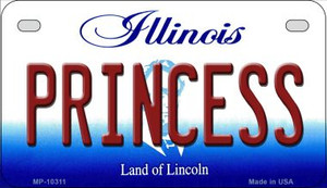 Princess Illinois Wholesale Novelty Metal Motorcycle Plate MP-10311