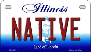 Native Illinois Wholesale Novelty Metal Motorcycle Plate MP-10312
