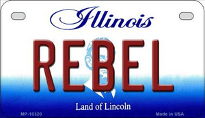 Rebel Illinois Wholesale Novelty Metal Motorcycle Plate MP-10320