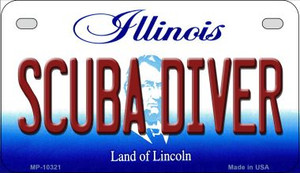 Scuba Diver Illinois Wholesale Novelty Metal Motorcycle Plate MP-10321