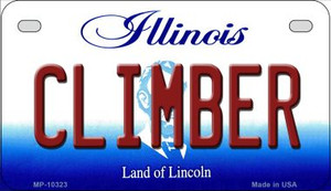 Climber Illinois Wholesale Novelty Metal Motorcycle Plate MP-10323