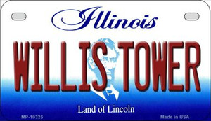 Willis Tower Illinois Wholesale Novelty Metal Motorcycle Plate MP-10325
