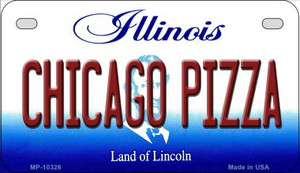 Chicago Pizza Illinois Wholesale Novelty Metal Motorcycle Plate MP-10326