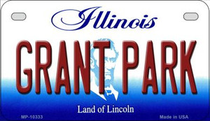 Grant Park Illinois Wholesale Novelty Metal Motorcycle Plate MP-10333