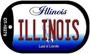 Illinois Wholesale Novelty Metal Dog Tag Necklace DT-10279