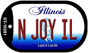 N Joy IL Illinois Wholesale Novelty Metal Dog Tag Necklace DT-10281