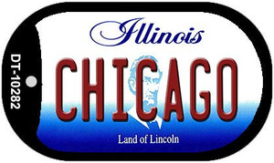 Chicago Illinois Wholesale Novelty Metal Dog Tag Necklace DT-10282