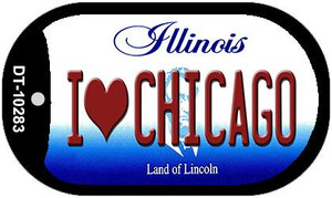 I Love Chicago Illinois Wholesale Novelty Metal Dog Tag Necklace DT-10283