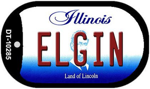Elgin Illinois Wholesale Novelty Metal Dog Tag Necklace DT-10285