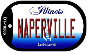 Naperville Illinois Wholesale Novelty Metal Dog Tag Necklace DT-10286