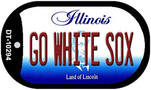 Go White Sox Illinois Wholesale Novelty Metal Dog Tag Necklace DT-10294