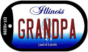Grandpa Illinois Wholesale Novelty Metal Dog Tag Necklace DT-10299