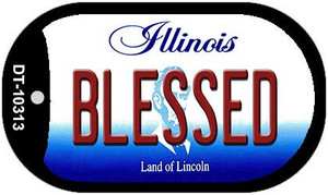 Blessed Illinois Wholesale Novelty Metal Dog Tag Necklace DT-10313