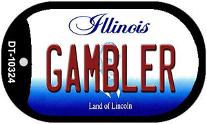 Gambler Illinois Wholesale Novelty Metal Dog Tag Necklace DT-10324