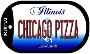 Chicago Pizza Illinois Wholesale Novelty Metal Dog Tag Necklace DT-10326