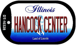 Hancock Center Illinois Wholesale Novelty Metal Dog Tag Necklace DT-10328