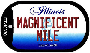 Magnificent Mile Illinois Wholesale Novelty Metal Dog Tag Necklace DT-10330