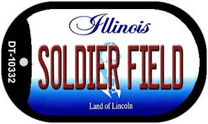 Soldier Field Illinois Wholesale Novelty Metal Dog Tag Necklace DT-10332