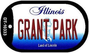 Grant Park Illinois Wholesale Novelty Metal Dog Tag Necklace DT-10333