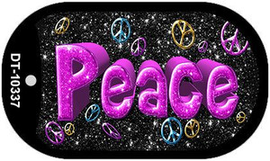 Peace Illinois Wholesale Novelty Metal Dog Tag Necklace DT-10337
